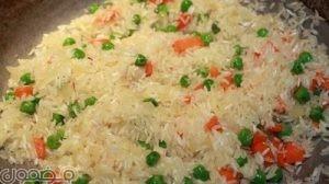 ارز 300x168 طريقة أرز بالشبت و البازلاء