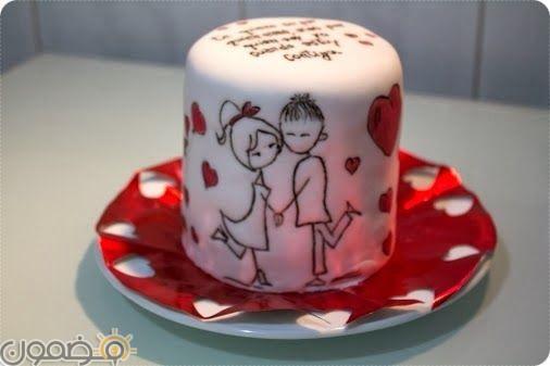 تورتة قلب 12 صور تورتات عيد زواج رومانسية