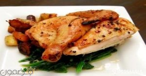 دجاج بالخضروات 300x158 طريقة الدجاج الروستو بالخضروات