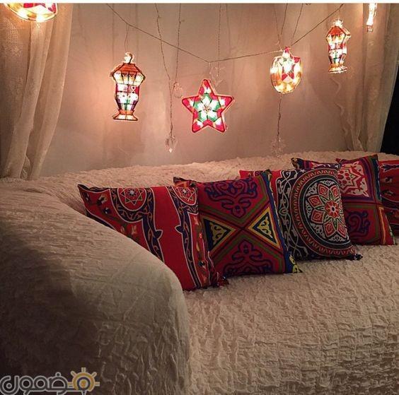ديكورات رمضان بالقماش الملون 1 ديكورات رمضان بالقماش الملون تصميمات جديدة