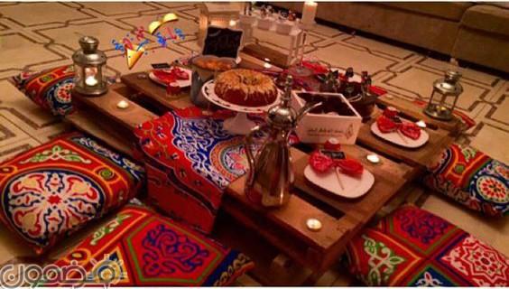 ديكورات رمضان بالقماش الملون 10 1 ديكورات رمضان بالقماش الملون تصميمات جديدة