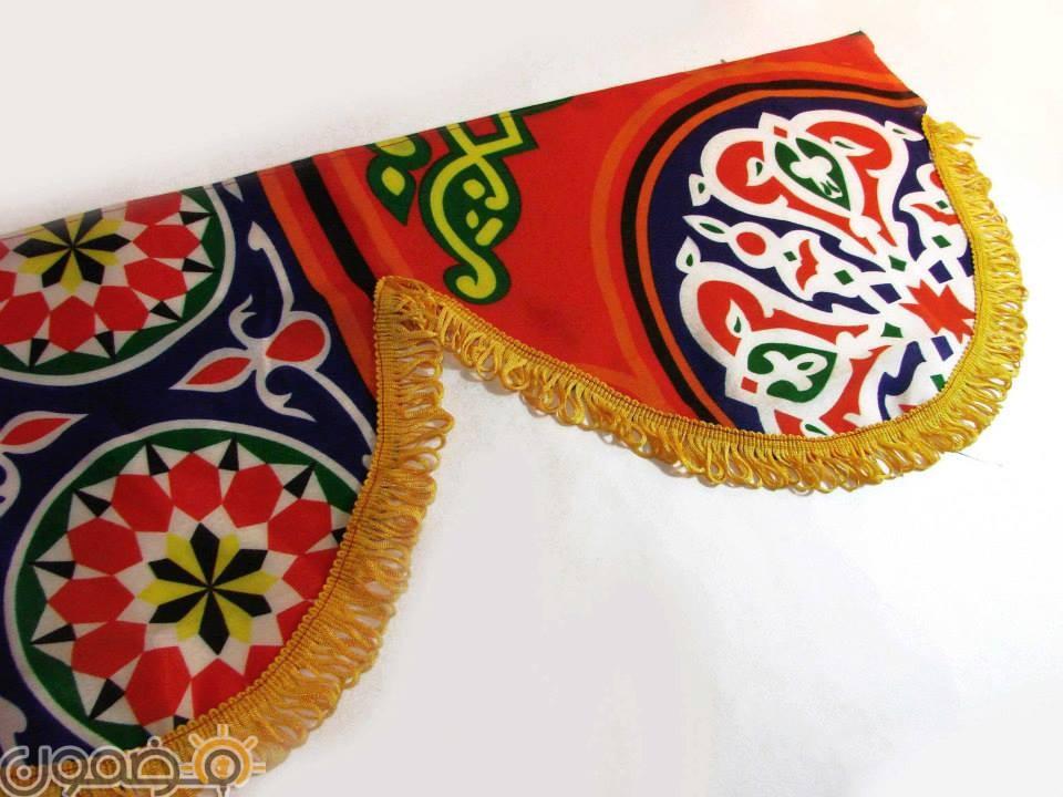 زينة رمضان بالقماش الخيامية 1 طريقة عمل زينة رمضان بالقماش الخيامية