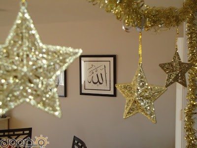 زينة رمضان في البيت 7 زينة رمضان بالورق في البيت من الداخل