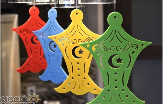 زينة رمضان في البيت 8 زينة رمضان بالورق في البيت من الداخل