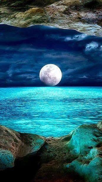 صور بحر وقمر صور البحر اروع خلفيات طبيعية خلابة