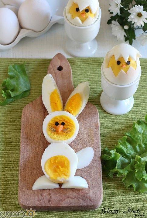 صور تقطيع بيض شم النسيم 3 صور تقطيع بيض شم النسيم بطريقة جديدة
