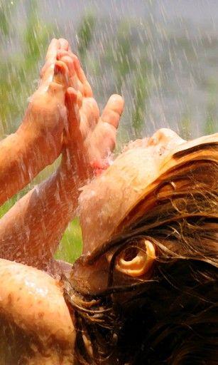 صور مطر اطفال