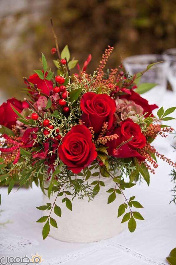 صور ورد احمر 11  صور بوكيه ورد احمر طبيعي حب