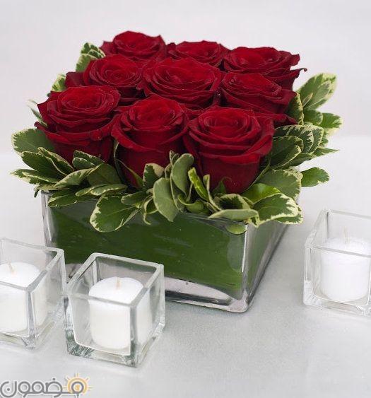 صور ورد احمر 7  صور بوكيه ورد احمر طبيعي حب