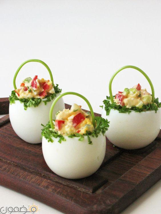 طرق تقديم البيض للاطفال 2 طرق تقديم بيض شم النسيم للاطفال بالصور