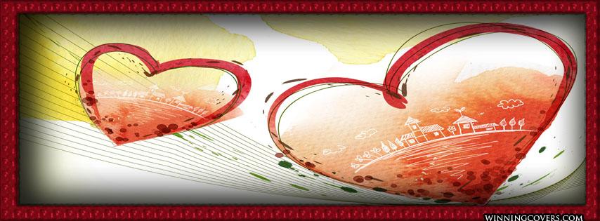 غلاف حب قلبين صور غلاف حب للبروفايلات و للبيدجات و صفحات الفيس بوك