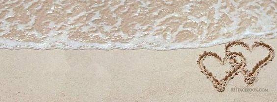 غلاف حب قلوب على الرمل صور غلاف حب للبروفايلات و للبيدجات و صفحات الفيس بوك