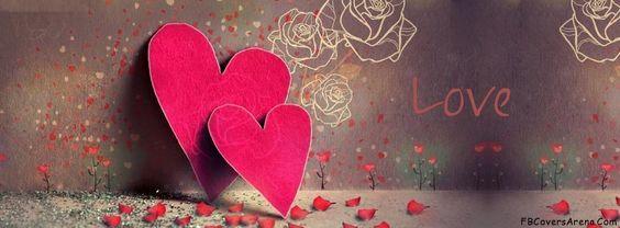 كفرات رومانسية قلبين صور كفرات رومانسية للفيس بوك مميزة جدا